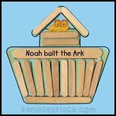 Noah's Ark Craft Stick or Popsicle Stick Bible Craft for Sunday School from www.daniellesplce.com