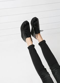 Chaussures Oxford plateforme