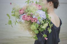 #アジサイ #バラ #スモークツリー #クレマチス #bouquet #flower