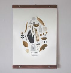 Flora & Fauna Print by Clare Owen