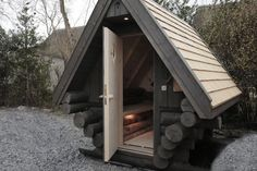 De sauna in de tuin - All For Garden Sauna House, Outdoor Baths, Beach Properties, Backyard Farming, Saunas, Tiny House, House Styles, Farms, Cabins