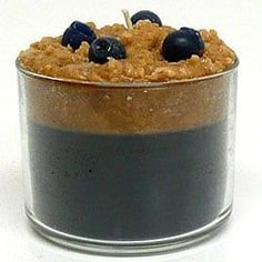 1 Pc Kitchen Candles Parfait Candles Blueberry Scented 3.5 in. diameter x 3 in. tall (Glass)