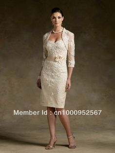 Free Shipping Elegant Stock Champagne Long Sleeve Lace Mother of The Bride Dress Formal Evening Dress MD015-in Mother of the Bride Dresses Aliexpress.com