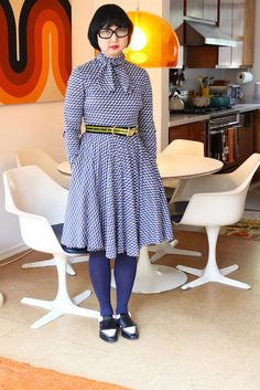 """""""This is a vintage Geoffrey Beene dress I got at A Current Affair. It has a 60s stewardess feel. Anything with collars I love."""" Vintage dres..."""