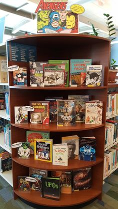 Literary Hoots: The Avengers! Summer Reading Library Display