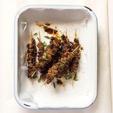 Pork Belly Kebabs Kebabs, Pork Belly, Wine Recipes, Green Beans, Beef, Vegetables, Food, Meat, Kabob
