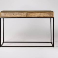 industrial style console table with drawer - Google Search