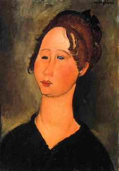 Burgundian Woman 1918 Greeting Card for Sale by Modigliani Amedeo Amedeo Modigliani, Modigliani Paintings, Italian Painters, Italian Artist, Canvas Art Prints, Oil On Canvas, A4 Poster, Vintage Artwork, Woman Painting