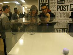 SNL Castmates Vanessa Bayer and Fred Armisen check out the WIRED Store and play with Sphero.