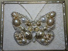 Vintage Jewelry Pearl Butterfly