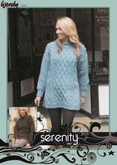 We have a huge selection of stunning knitting patterns from many of the leading brands. Jumpers For Women, Knitting Patterns, Tunic, Lady, Clothes, Outfits, Knit Patterns, Tunics, Clothing