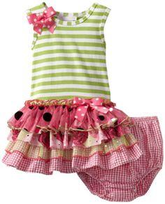 Amazon.com: Bonnie Baby Girls Infant Mesh Sparkle Tiers Dress: Clothing