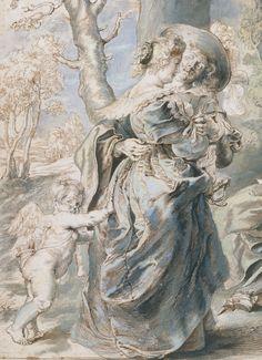 "spoutziki-art: ""(Workshop of) Peter Paul Rubens - The Garden of Love (left portion), between (detail) "" Figure Drawing, Painting & Drawing, Miguel Angel, Rubens Paintings, Baroque Art, Peter Paul Rubens, Pierre Auguste Renoir, Ppr, Caravaggio"