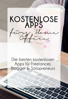 Kostenlose Apps f& Dein Home Office - Virtual assistent hacks - Pers& Assistentin Hacks Home Office Simples, Earthy Home, Apps That Pay You, Office Organization At Work, Office Ideas, Hacks, Design Home App, Business Inspiration, Marketing Tools