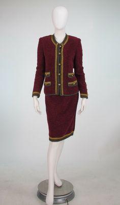 1960s Adolfo four pocket classic knit suit