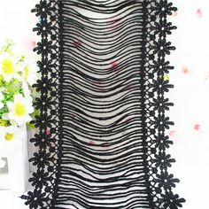 size 17.50cm high quality embroidery lace
