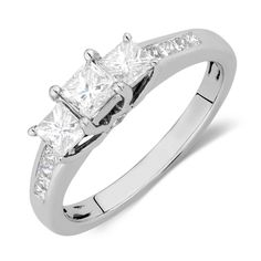 Engagement Ring with 1 Carat TW of Diamonds in 14kt White Gold, My new favorite ring