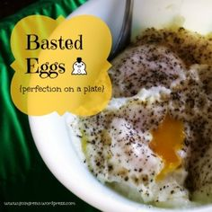 Easy Breakfast: Basted Eggs. Ice cubes help to steam eggs to the perfect mix of fried and poached.  In 90 seconds!