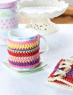 Free Crochet Mug Coaster Pattern : 1000+ images about Mug rugs & Coasters on Pinterest Mug ...
