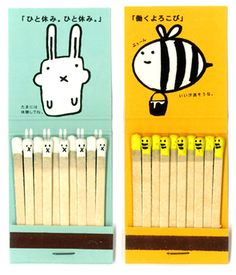 cute matches packaging design from Japan.