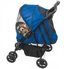 Happy Trails Cobalt Blue Dog Stroller – Bark Label
