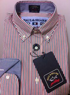 NWT$255+tax  Paul & Shark Italian Luxury Chic Yachting Casual shirt L /42US #PaulShark #ButtonFront