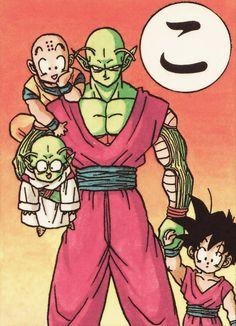 Piccolo, Gohan, Dende, and Krillin