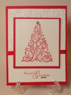 red christmas:  I have this stamp:)  I hope to make this for Christmas 2013 Christmas cards