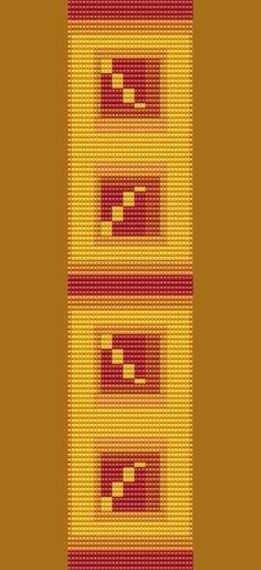 Butterscotch Wine Bracelet Bead Pattern LOOM