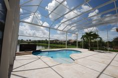 Two story picture window enclosure Pool Screen Enclosure, Screen Enclosures, Coastal, Design Ideas, Backyard, House Design, Windows, Outdoor Decor, Home