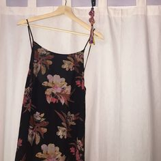 Free People Intimates Maxi Floral Dress Free People floral printed maxi print slip dress, 100% rayon, machine washable, lay flat to dry, low scoop back, spaghetti straps. Got this dress recently but I'd prefer a tighter fit around the waist. Perfect for the beach, going out, or even lounging around the house(wearing a bra without it makes the back of the dress look gorgeous) Only worn once! Free People Dresses Maxi