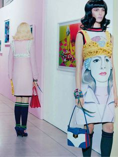 """Ruby Aldridge in """"Refresh Your Style"""" by Miles Aldridge for Vogue Italia March 2014"""