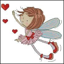 free cross stitch patterns in pdf format with fairy in love
