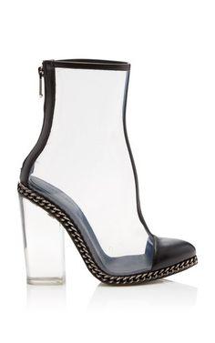 Transparent Heel Bootie by Balmain