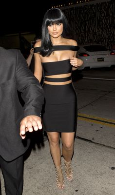 In Balmain arriving at an after party.   - ELLE.com