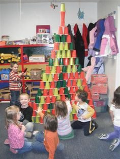 The kids would love this! And wouldn't even mind cleaning them up cause they sure would love knocking them down :)!