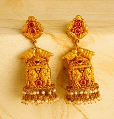 Indian Jewellery and Clothing: unique designs of jhumkas from Mehta jewellers..