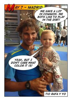 Micaela Bryan spends some time with Nadal