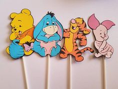 Set of 10 Winnie the Pooh and Tigger Cupcake Topper Cake