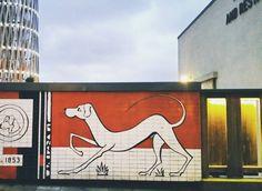 paredes dibujadas con #perrunos son mucho más bonitas