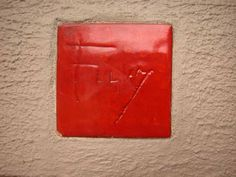 Frank Lloyd Wright signature tile - this one on the Penfield House...