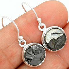 Elite Shungite 925 Sterling Silver Earrings Jewelry SNGE358 - JJDesignerJewelry