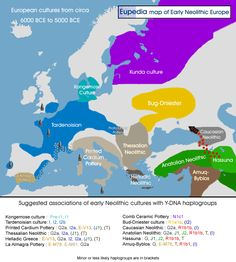 Early Neolithic Cultures in Europe from c. 6000 BCE to 5000 BCE.
