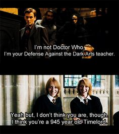 I love everything about this. Harry potter, doctor who, and comic relief.