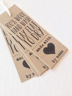 product tags custom packaging tags handmade with by PrintSmitten $12 for 12