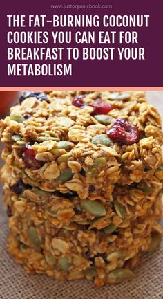 breakfast cookies The Fat-Burning Coconut Cookies You Can Eat For Breakfast to Boost Your Metabolism Coconut Cookies, Healthy Cookies, Healthy Snacks, Healthy Eating, Healthy Breakfast Cookies, Low Fat Cookies, Coconut Biscuits, Healthy Granola Bars, Protein Cookies