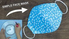 Make fabric face mask at home diy face mask no sewing machine easy face mask pattern - youtube Sewing Hacks, Sewing Tutorials, Sewing Crafts, Sewing Projects, Beginners Sewing, Diy Crafts, Easy Face Masks, Diy Face Mask, Homemade Face Masks