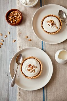 pumpkin bourbon tarts with mascarpone cream