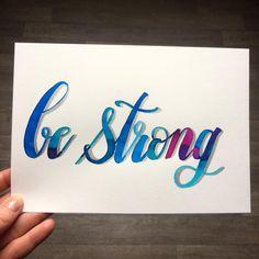 Be strong ;) 💪 💪  #januaryletteringmotivation  #calligraphy #calligraphie #moderncalligraphy #brushcalligraphy #brushlettering  #typography #handtype #handlettering #word #font #lettering #handlettered #handwriting #brushlettered #letteringchallenge  #dailylettering #calligraphylove #design #art #inspiration #followme #brushpen #watercolor #brushscript #handwritten #lettering #scriptlettering #calligritype #goodtype
