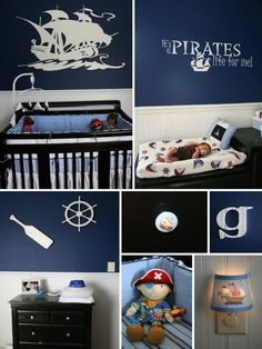 Pirate room! Love it! Love the paint and pirate ship!
